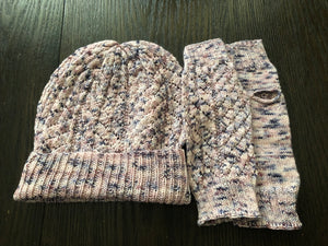 Mom's Hat & Mitts Set Pattern - digital download
