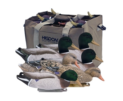 Magnum Mallard- Foam Filled, Flocked heads+ 6 Slot bag (6pk)