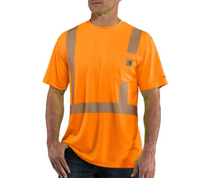 100495 High-Visibility Short-Sleeve -Tall orange