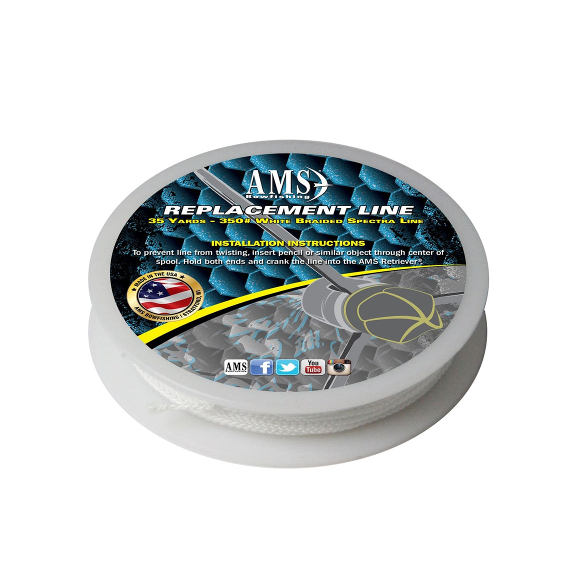 AMS Replacement Line 35yd. 350#