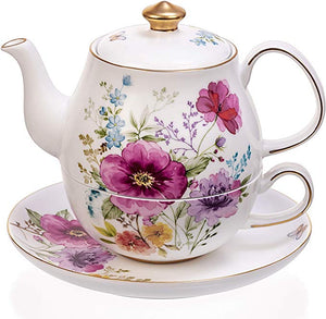English Garden Style Teapot
