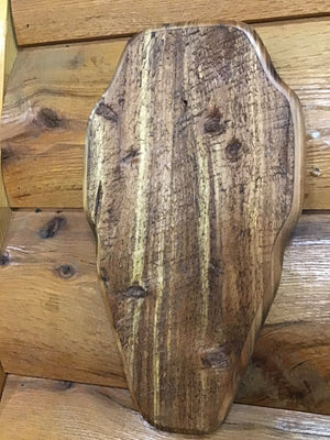 Rough Burnt Cedar Trophy Plaque