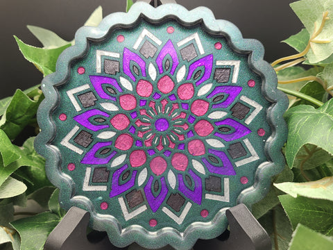Tray (Mandala) - Emerald Green