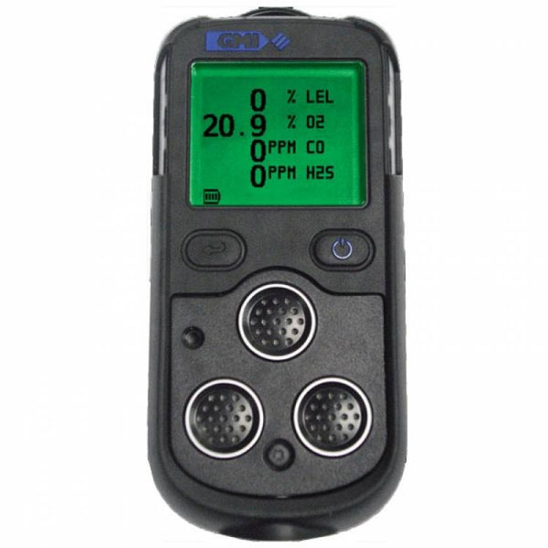 GMI PS200 gas detector O2 LEL H2S CO c/w charger