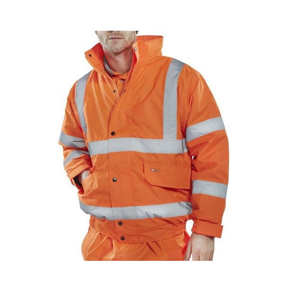 Hi Viz CLASS 3 Constructor Bomber Jacket - Orange