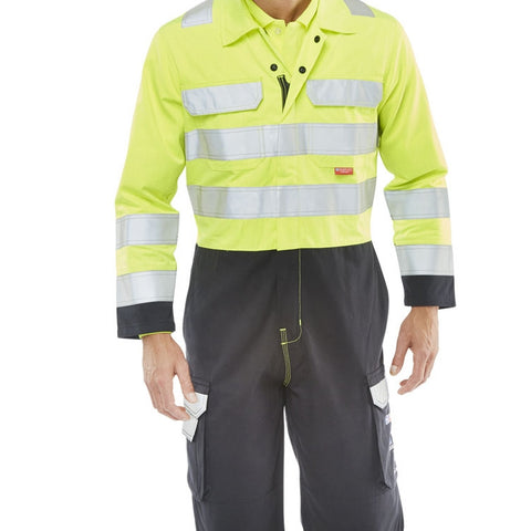ARC FLASH coverall two tone Saturn yellow