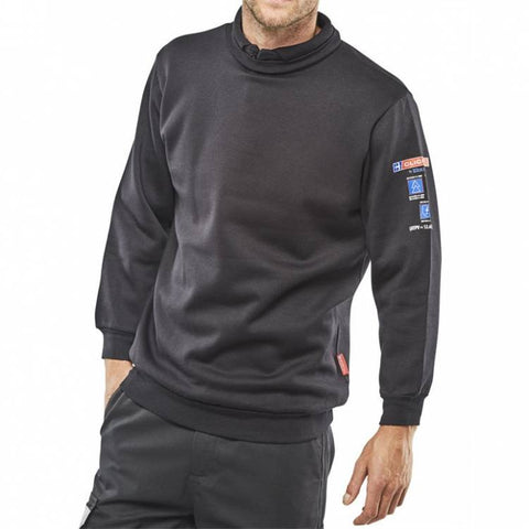 ARC Compliant Flame Retardant Navy Sweatshirt