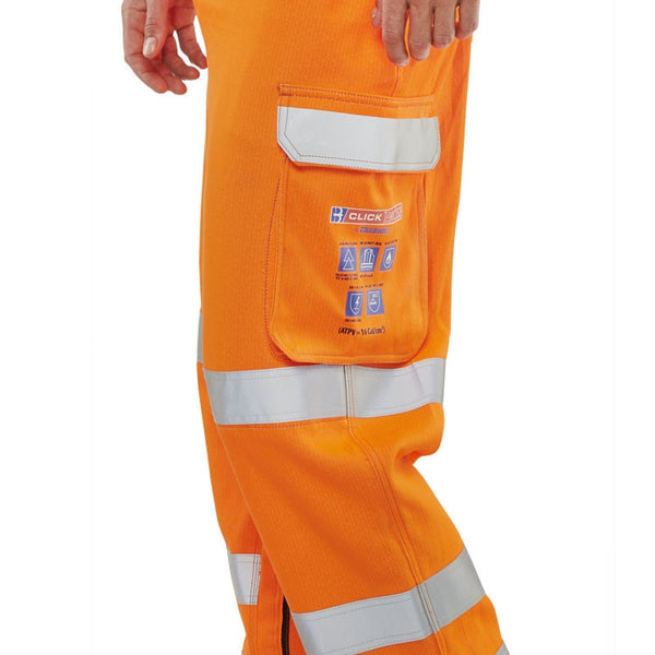 ARC compliant Flame Retardant Hi-Vis Orange GO/RT Trousers