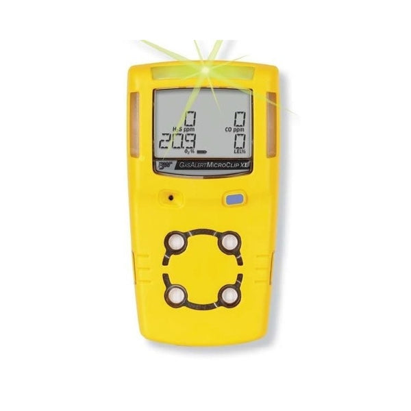 BW MicroClip XL gas detector H2S O2 CH4(LEL) CO c/w charger