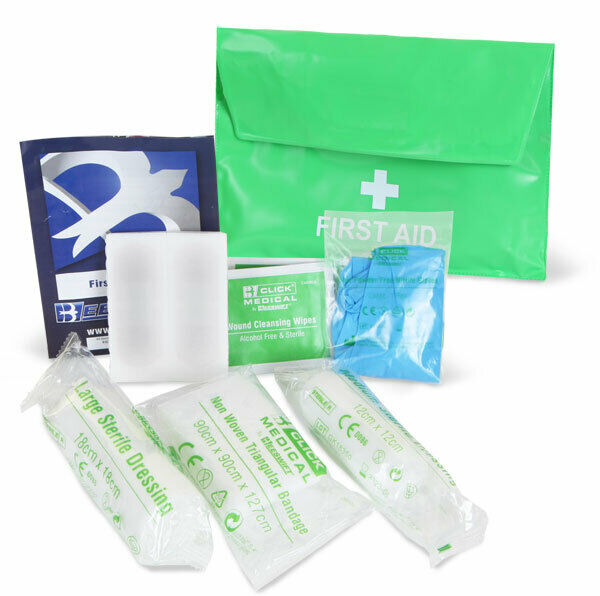 Loan Worker / Single person HSE Approved First Aid kit c/w Pouch