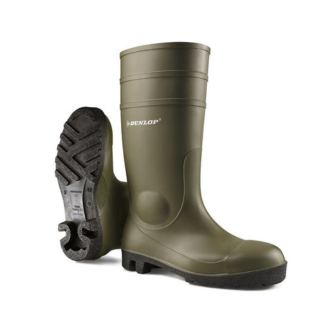 ProMaster Full Safety Wellies Green