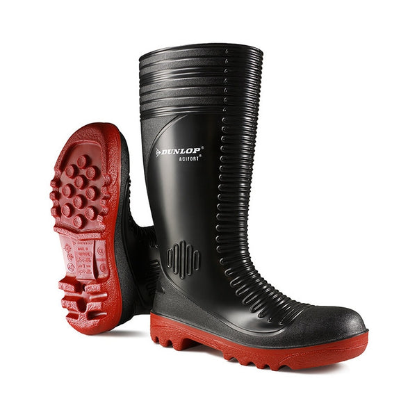 Acifort Ribbeed Black Wellies