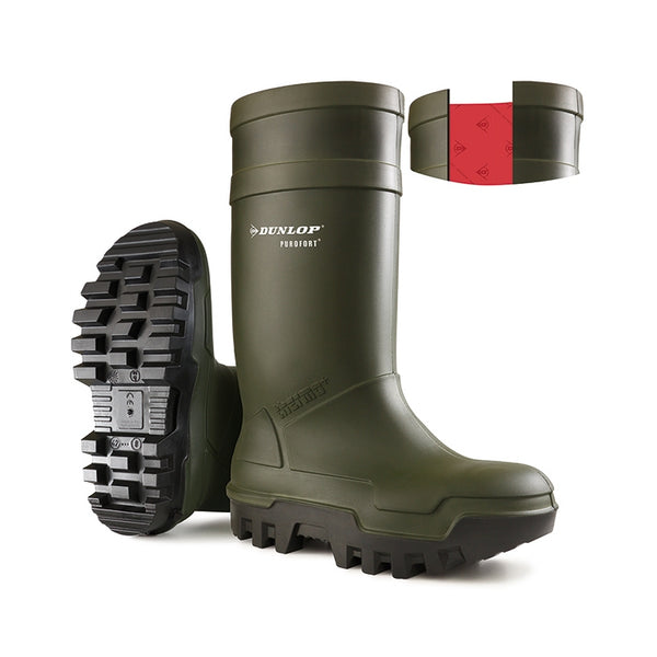 Purofort Thermo + Safety Wellies Green