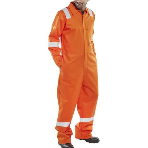 Flame retardant anti-static nordic design coverall Orange