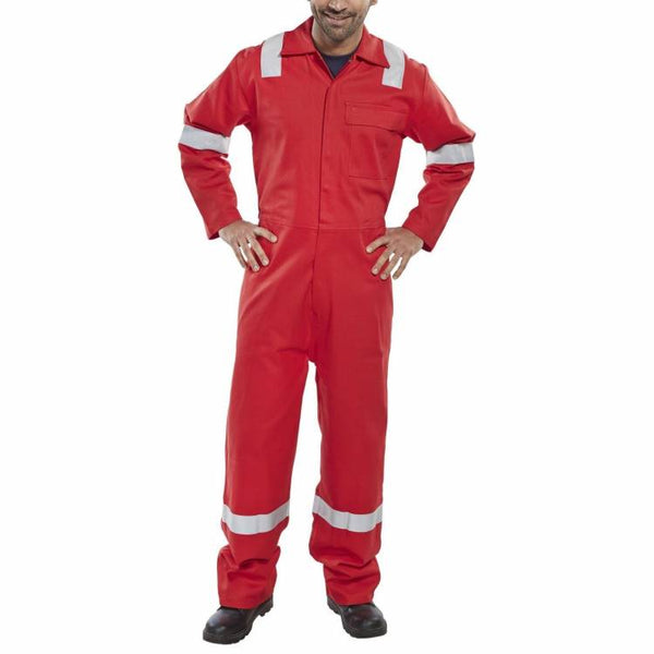Flame retardant anti-static nordic design coverall Red