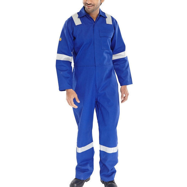 Flame retardant anti-static nordic design coverall royal blue