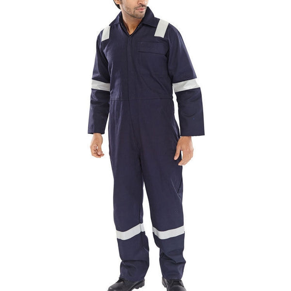 Flame retardant antistatic nordic design coverall Navy blue