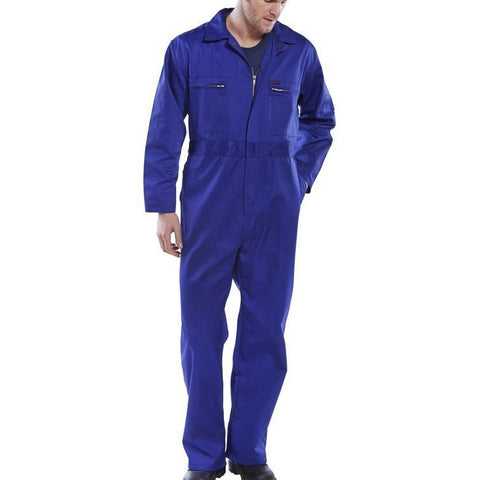 Super Click Poly cotton high quality Boilersuit Royal Blue