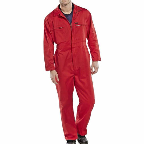 Super Click Red Workwear Boilersuit