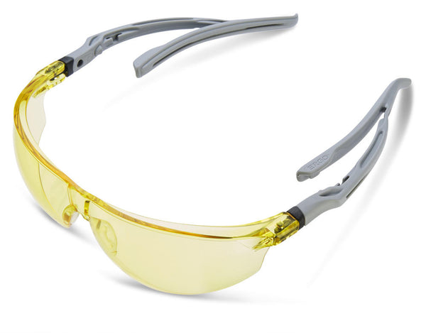 Safety Yellow Lens Ergo Temple Anti-Fog and Anti-Scratch Spectacles