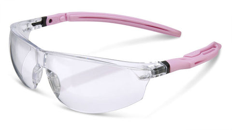 B-Brand Safety Clear Ergo Temple Anti-Fog and Anti-Scratch Spectacles