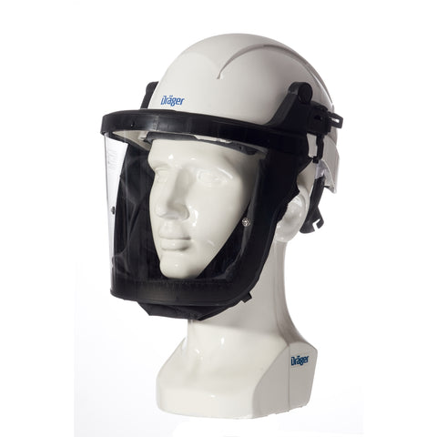 Drager X-Plore 8000 White Helmet with Polycarbonate Visor