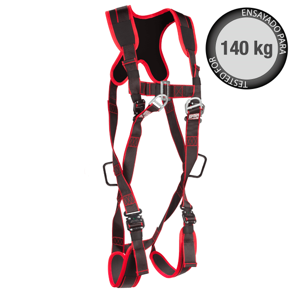Climax 21c ATEX Plus -Anti-static certified full body harness with padded back support and leg straps