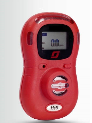 Protege ZM (H2S) Hydrogen Sulphide Single Gas Monitor (Hi Viz Red) - 2 Year Life