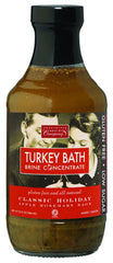 Turkey Bath brine makes a Classic Holiday.  Gluten free, fat free, and delicious this brine keeps pork and poultry juicy while cooking.