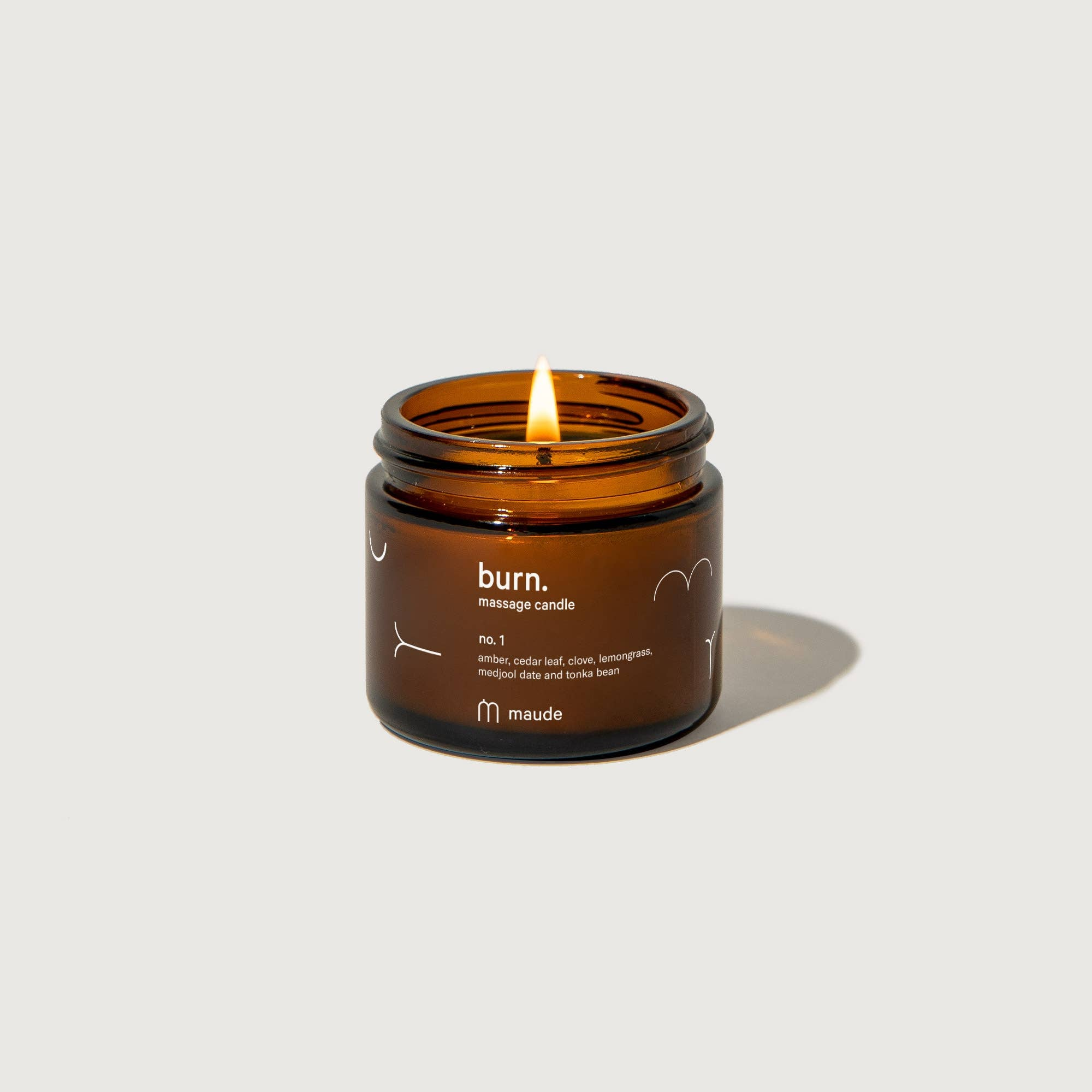 Burn no. 1 - 2oz skin-softening massage candle - The Lake