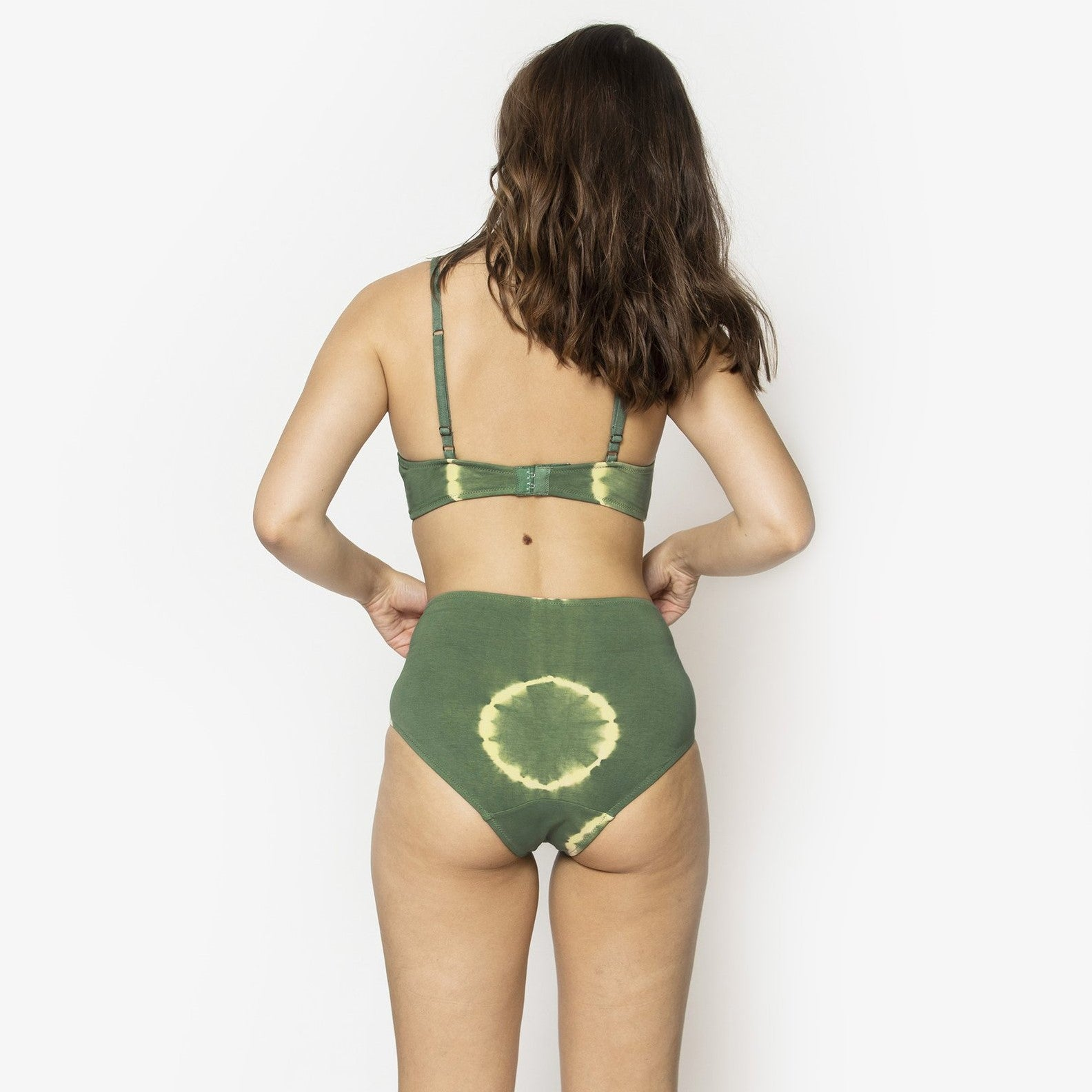 NICO Mid Rise Brief Tie Dye Cactus Green - The Lake