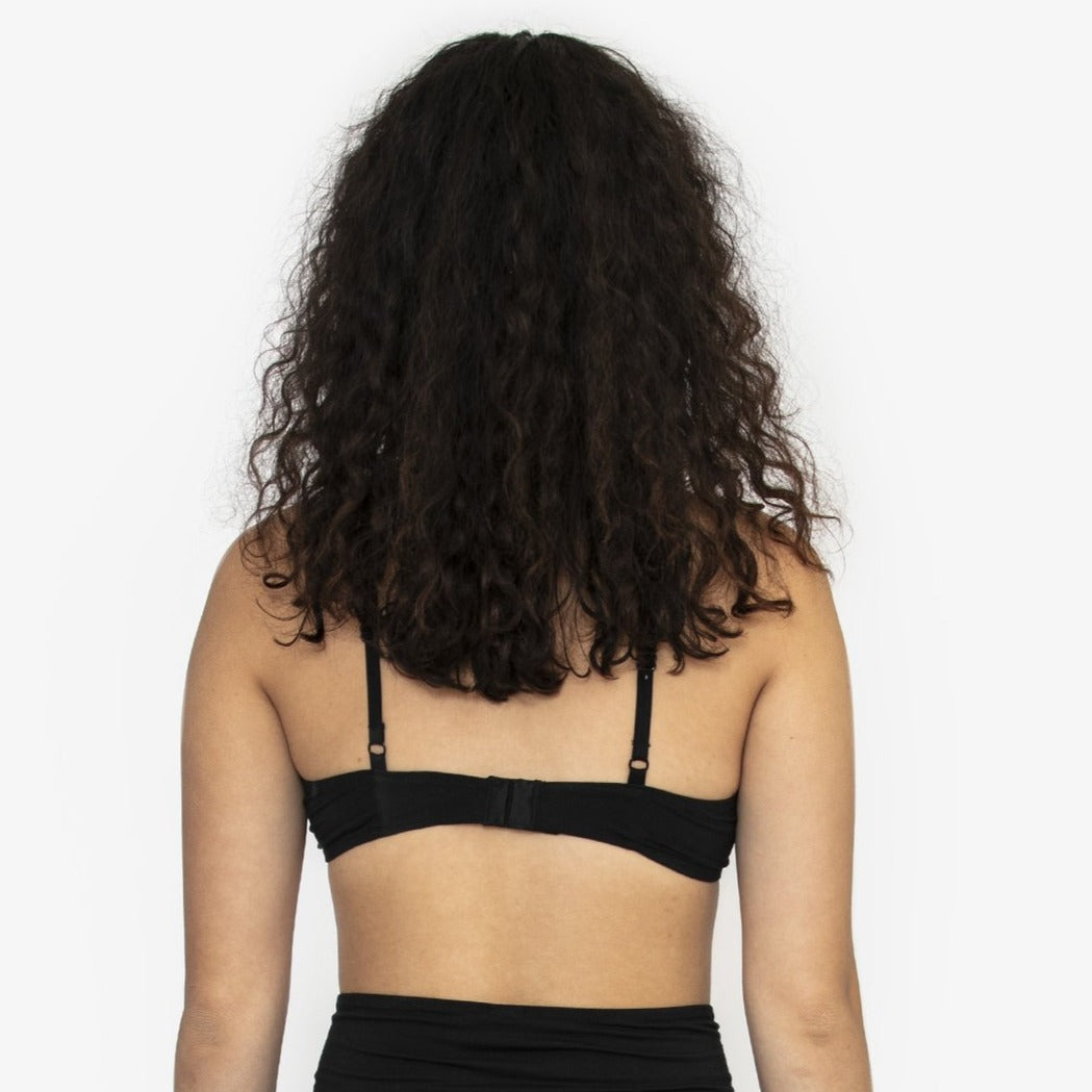 Nico Black Tencel Triangle Bra - The Lake
