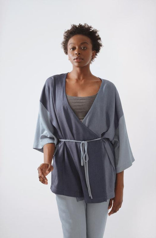 Short Wrap Robe - The Lake
