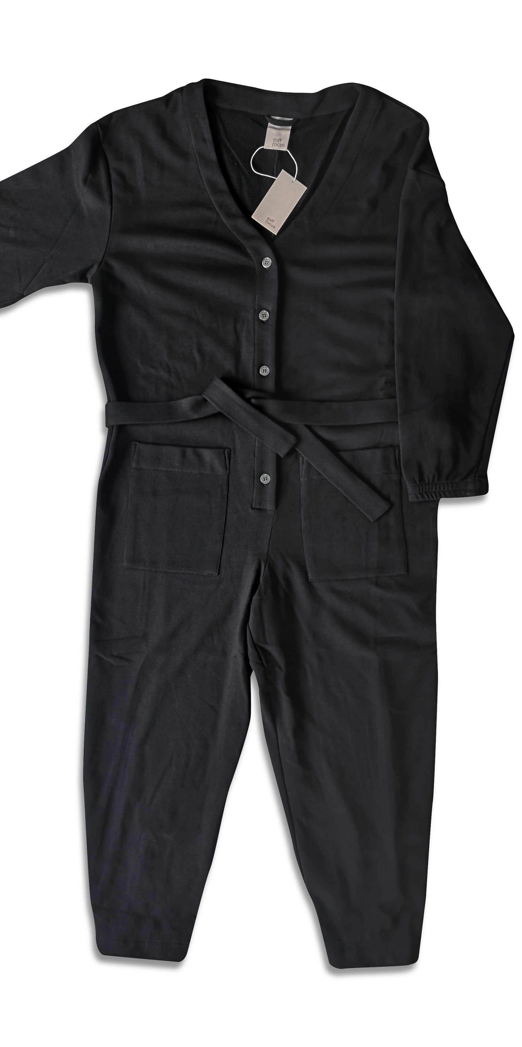 The Jogger Jumpsuit – Black - The Lake