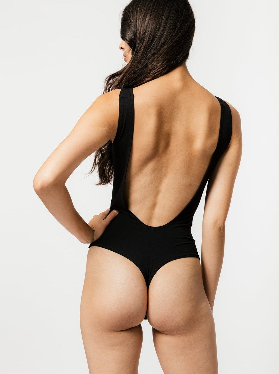 Mary Young - Backless Black Bodysuit - The Lake