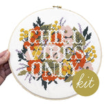 Chill Vibes Only Cross Stitch Kit