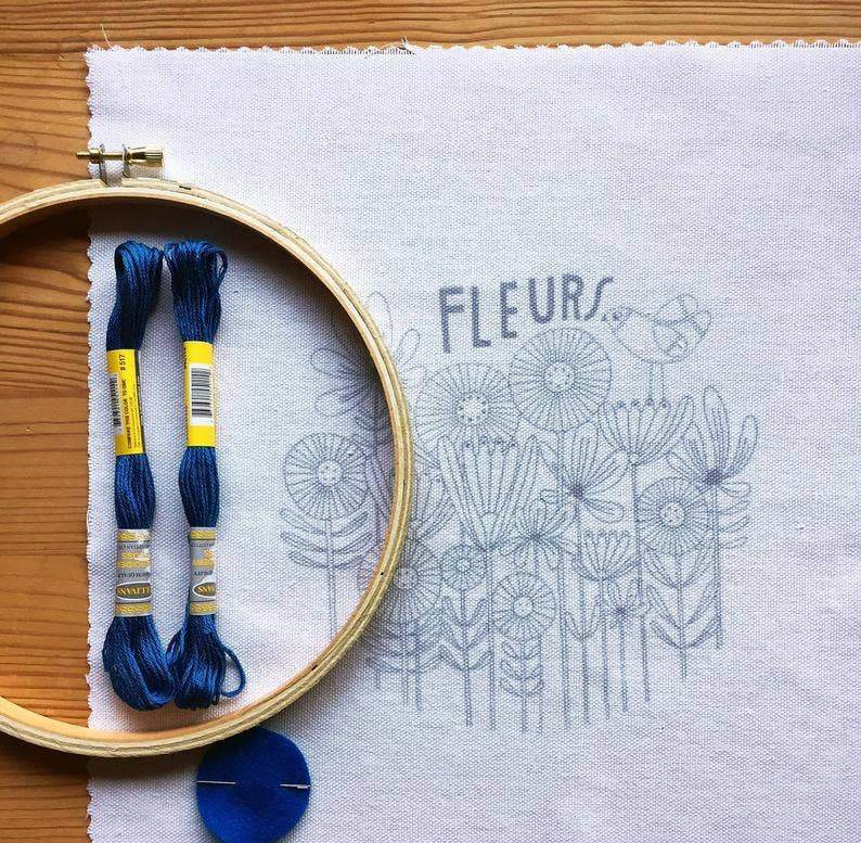 Fleurs Embroidery Kit - The Lake