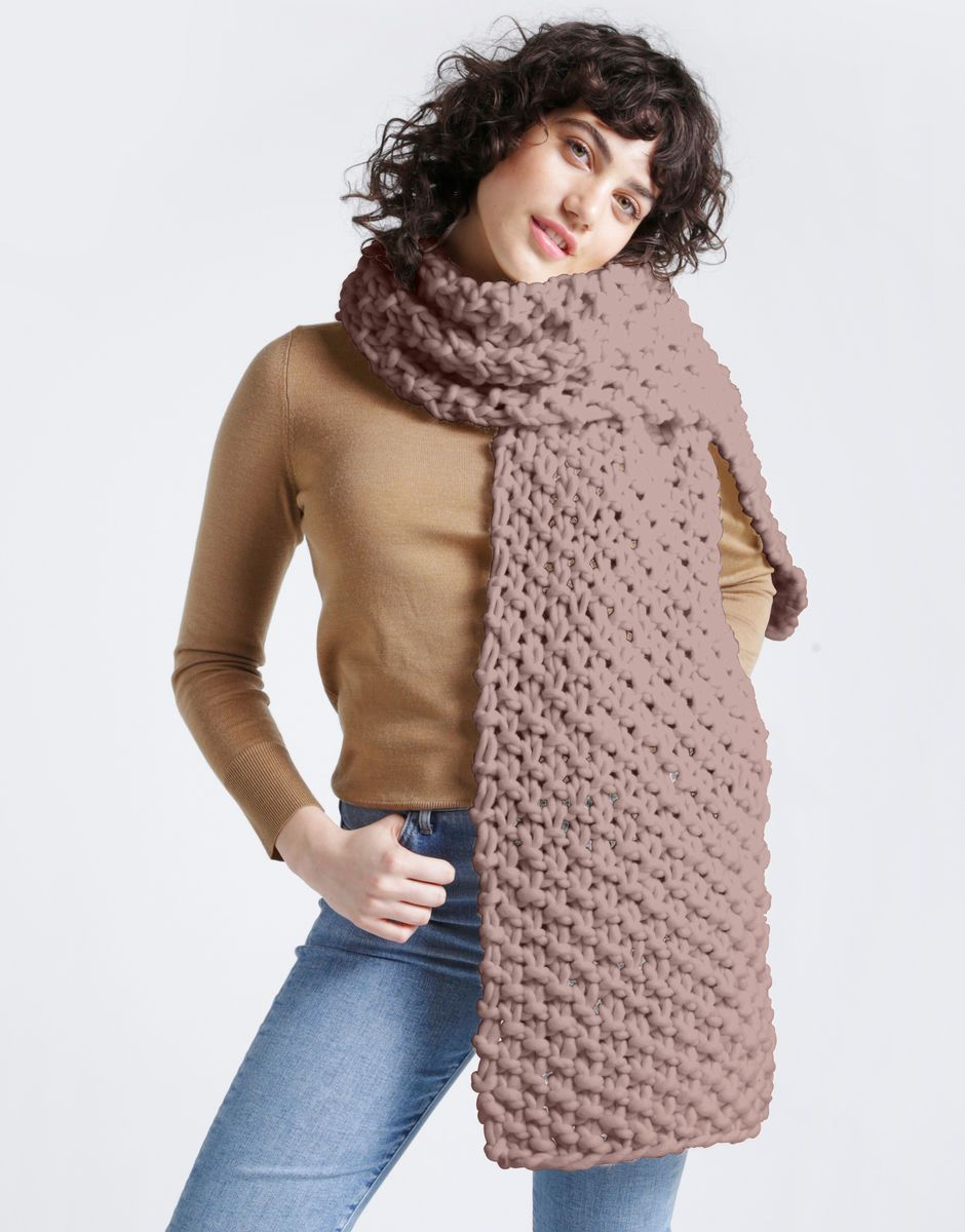 RUSHMORE SCARF - EASY KNITTING KIT - The Lake