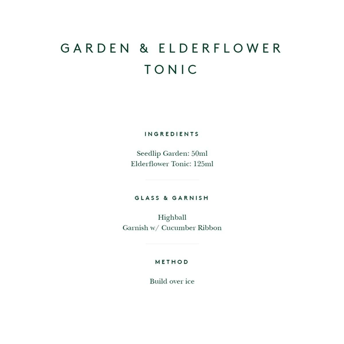 SEEDLIP GARDEN 108 & ELDERFLOWER TONIC