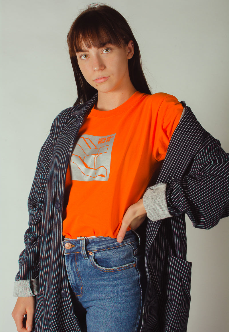 Reflective Staircase T-shirt Orange
