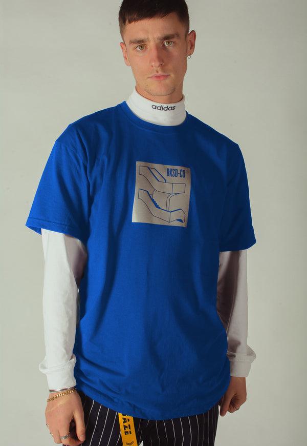 Reflective Staircase T-shirt Blue
