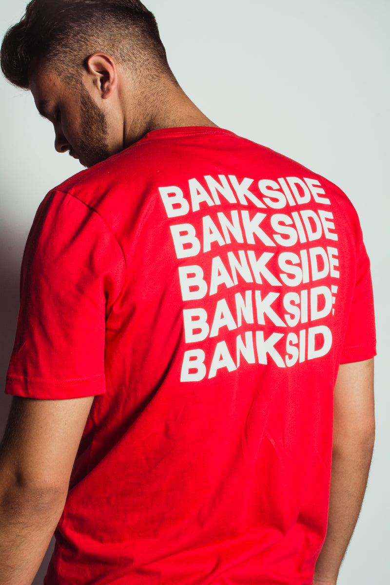 Red Bankside Wavy T-shirt