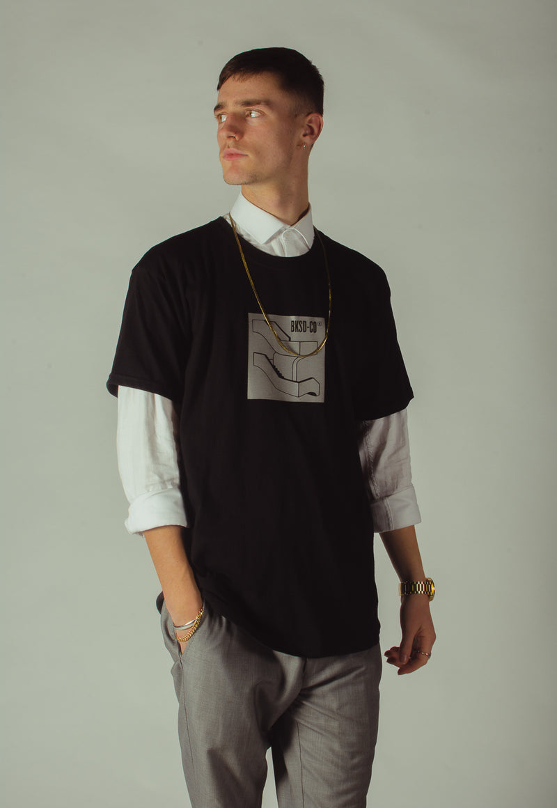 Reflective Staircase T-shirt Black