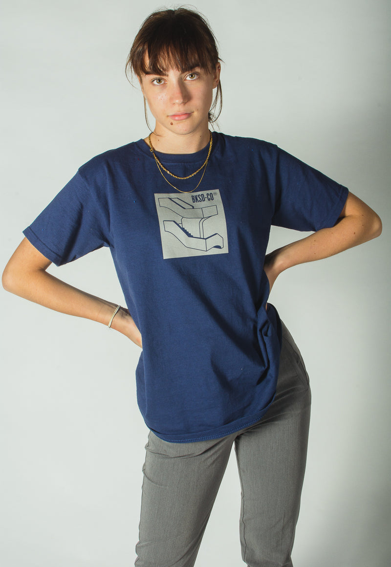 Reflective Staircase T-shirt Navy