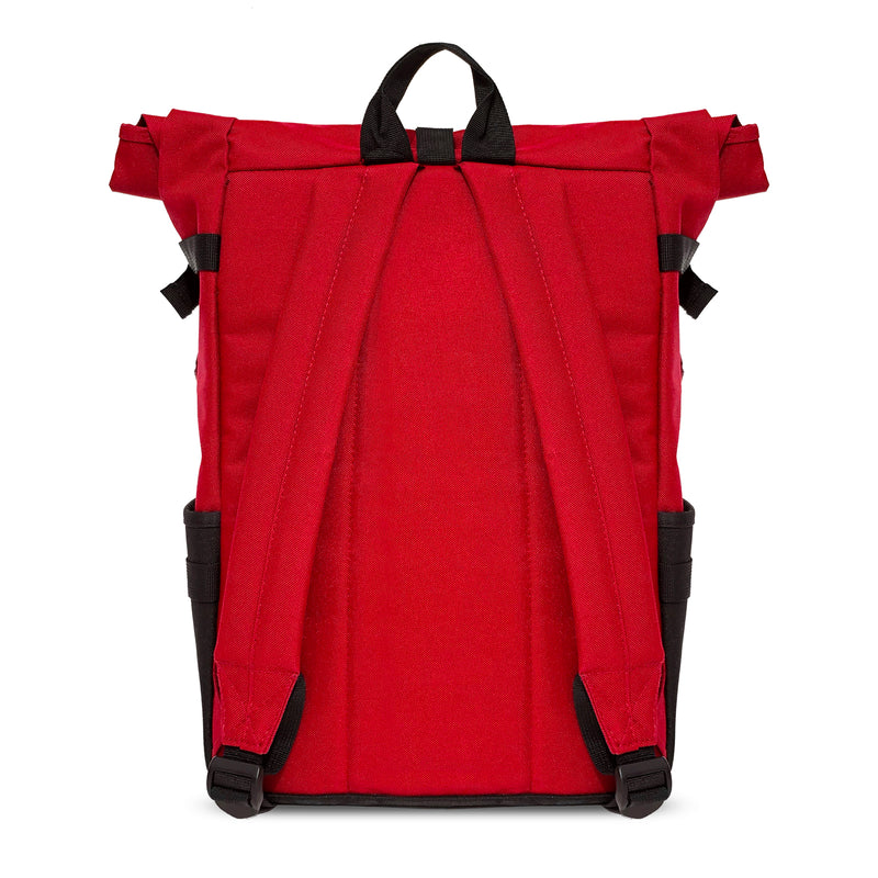 Red Roll-top Backpack