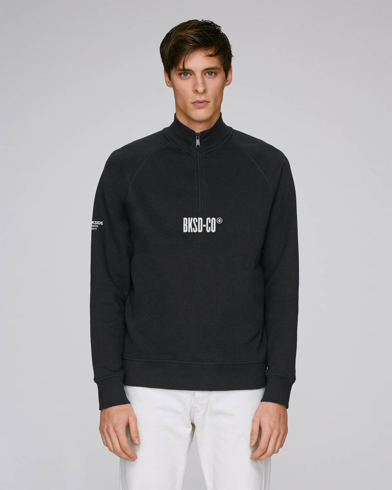 Black 1/4 Zip Sweatshirt