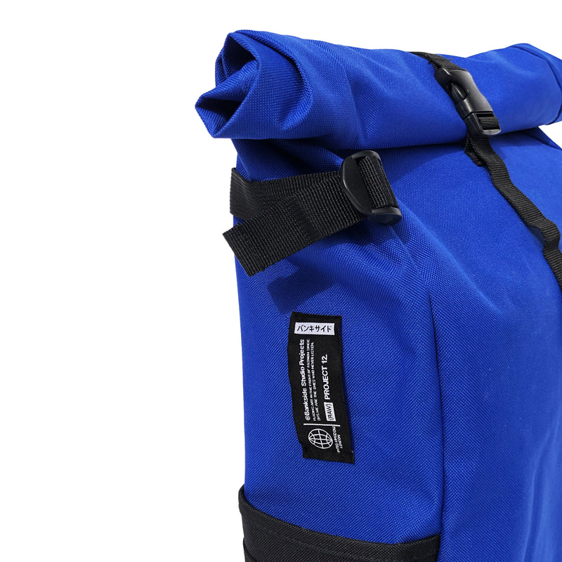 Blue Roll-top Backpack