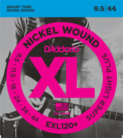 D'Addario EXL120+-3D Nickel Wound Electric Guitar Strings, Super Light Plus Gauge 3-pack