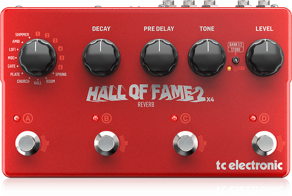 TC Electronic Hall of Fame 2 X4 Reverb pedal with Shimmer and presets