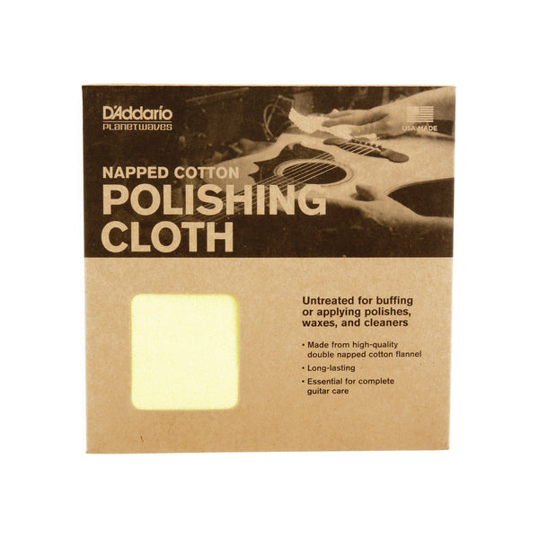 Planet Waves PWPC2 Napped Cotton Polishing Cloth - Made in USA
